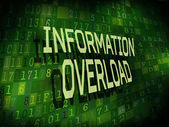 Information overload words isolated on digital background  — Stock Vector