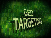 GEO targeting words isolated on digital background  — Stock Vector
