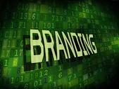 Branding word isolated on digital background  — Stock Vector