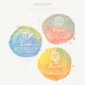 Watercolor element for education infographic — Vector de stock