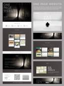 Modern style one page website design template — Stockvector