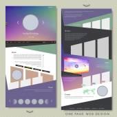 Diseño de Web de una sola página de estilo simple — Vector de stock