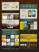Business style one page website design  — Stok Vektör