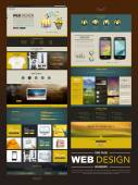 Business style one page website design  — Vetor de Stock