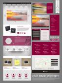 Modern one page website design template — Stock Vector
