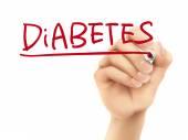 Diabetes word written by hand  — Stockvector