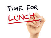 Time for lunch words written by hand — Stock Vector
