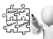 Business concept written by 3d man  — Vector de stock