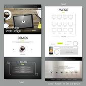 Conception de modèle de site Web une page — Vecteur