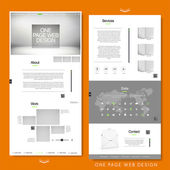 Minimalist one page website template design  — Stock Vector