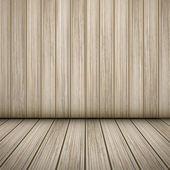 Interior scene of wooden room — Stock Vector