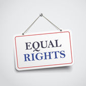Equal rights hanging sign — Stock Vector