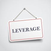 Leverage hanging sign  — Stock Vector