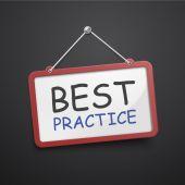 Best practice hanging sign — Stock Vector