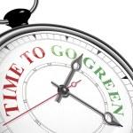 czas, aby przejść zielone pojęcie zegar — Wektor stockowy  #60582257