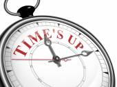 Die Zeit ist um Konzept-Uhr — Stockvektor