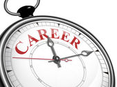 Career concept clock — Stock Vector