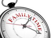 Family time concept clock — Stock Vector