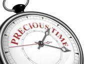 Horloge de notion de temps précieux — Vecteur