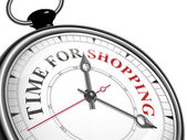 Time for shopping concept clock — Stock Vector