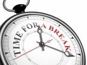Time for a break concept clock — Stock Vector