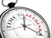 Tempo di ripensare orologio concetto — Vettoriale Stock