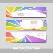 Bunte Banner Broschüre Vorlagendesign — Stockvektor