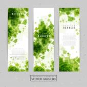Abstract banner template design — Stock Vector