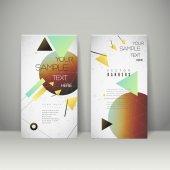 Геометрических баннер брошюру шаблон дизайна — Cтоковый вектор