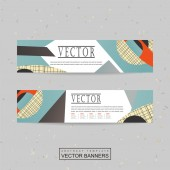 Collage style banner template design — Vector de stock