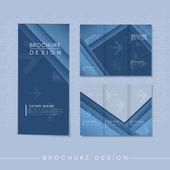 Modern tri-fold template design with streak element — Stock Vector