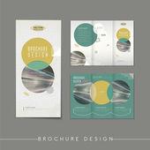 Modern abstract tri-fold brochure template design — Vector de stock