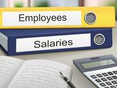 Salaries Files Showing Administration Folder — Stock Vector
