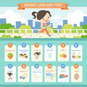 Diet concept infographic template design — Stock Vector
