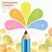 Watercolor style education infographic  — Vetorial Stock