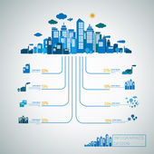 Energy concept infographic template design — Stockvektor