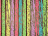 Colorful painted wooden background — Vettoriale Stock