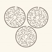 圆形迷宫的插图 — 图库矢量图片