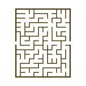 Maze game illustration — Vector de stock