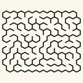 Maze game illustration — Stock Vector