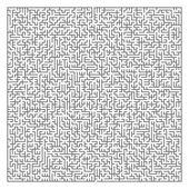 Maze game illustration — 图库矢量图片