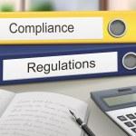 Compliance and regulations binders — Stock Vector #62495843
