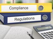 Compliance and regulations binders — Stock Vector