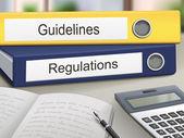 Guidelines and regulations binders — Stock Vector