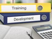 Training and development binders — Stock Vector