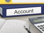 Account binders — Stock Vector