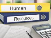 Human and resources binders — Stock Vector