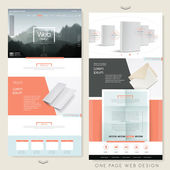 Simplicity one page website design template  — Stock Vector