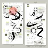 Creative calligraphy one page website design — ストックベクタ
