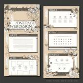 Vintage one page website design template — ストックベクタ